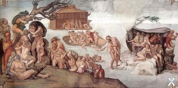 Микеланджело Буонаротти. Всемирный потоп