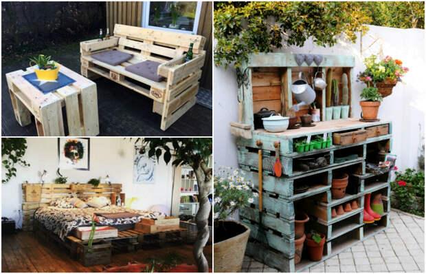 Идеи мебели из поддонов. \ Фото: cemicvet.mediasole.ru.