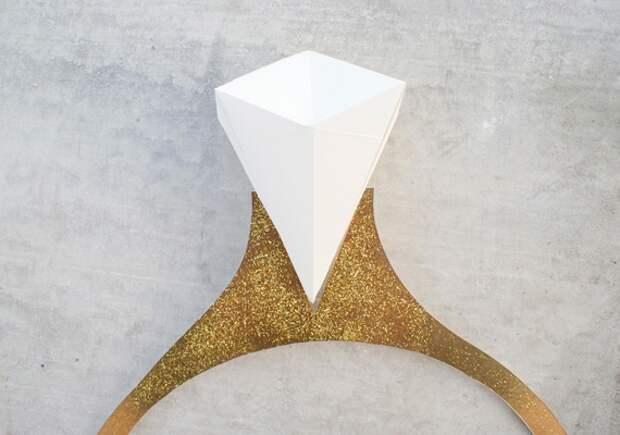 Кольца с бриллиантом 3D (diy)