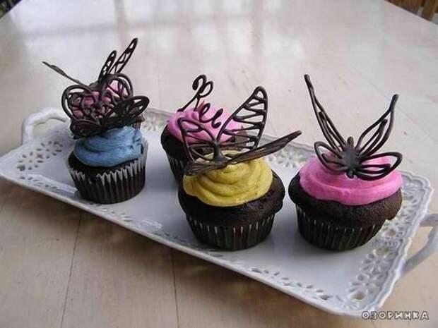 Как сделать шоколадные бабочки