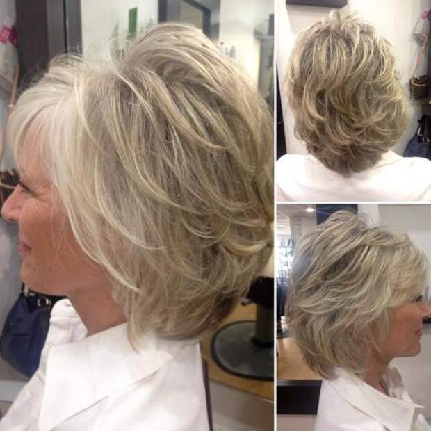 Простые короткие стрижки для женщин старше 50 лет.