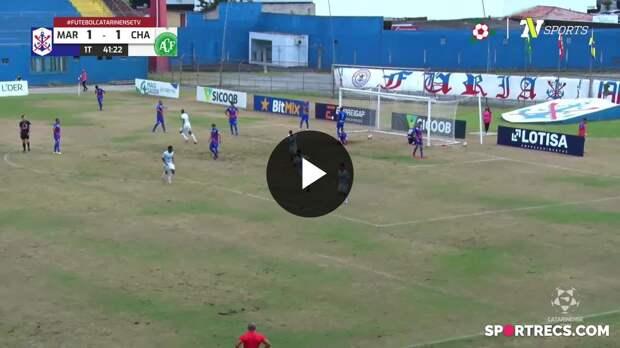 Mike empata para a Chapecoense contra o Marcílio Dias - Campeonato Catarinense (18/04/2021)