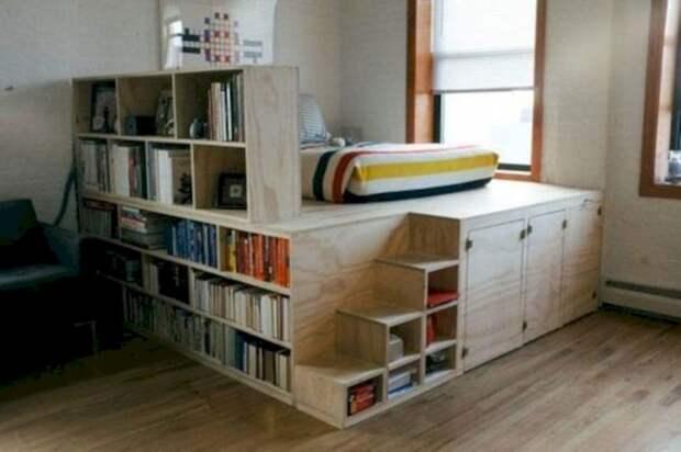 Отличная альтернатива шкафу: функциональные кровати с системами хранения
