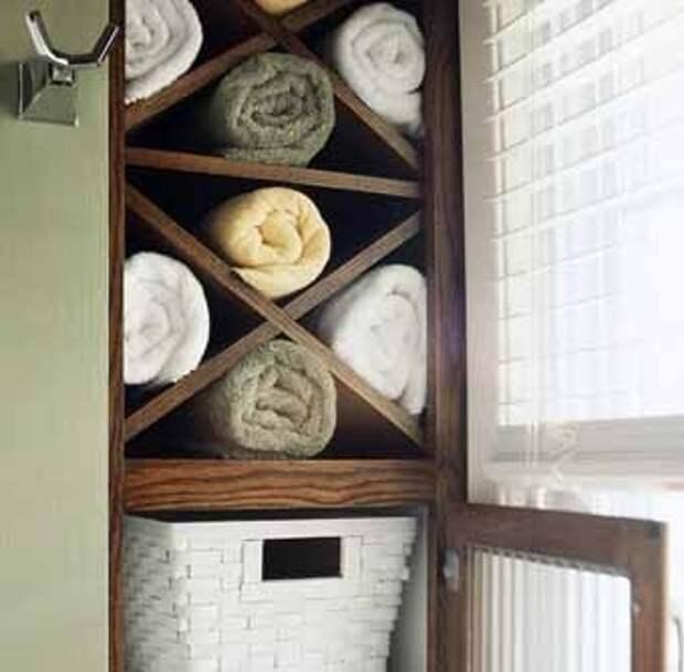 способы хранения для полотенца