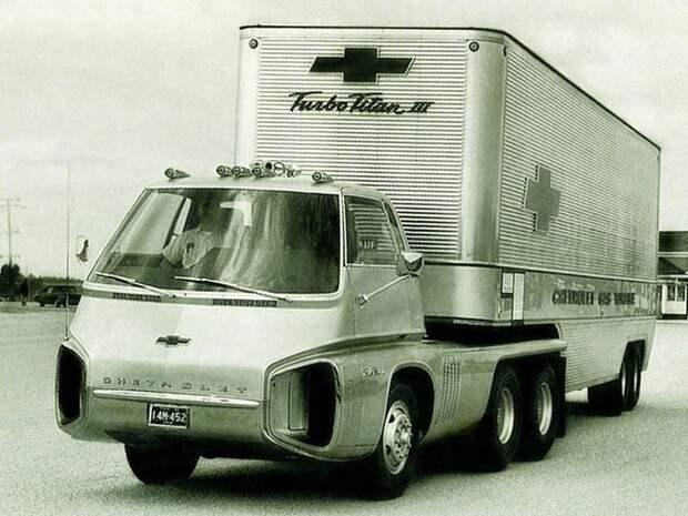 Футуристический тягач Chevrolet Turbo Titan III Turbo Titan III, chevrolet, авто, грузовик, концепт, тягач