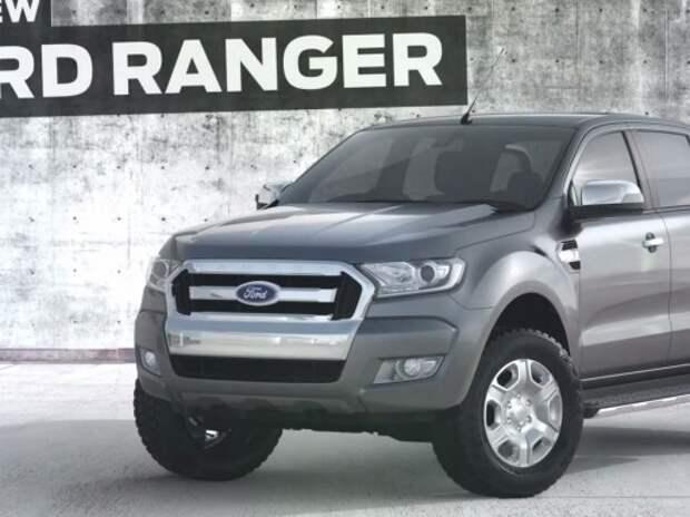 Обновленный пикап Ford Ranger получил дорогой интерьер