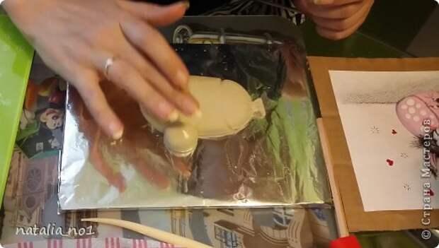 Мастер-класс Поделка изделие Лепка Кот на колбасе - Мастер класс Тесто соленое фото 19