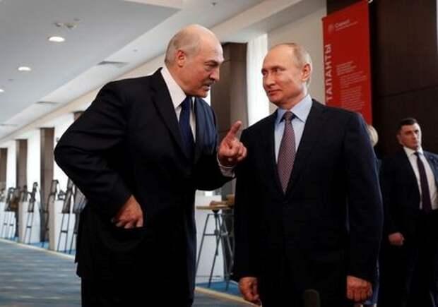 Президент Белоруссии Александр Лукашенко и президент РФ Владимир Путин на встрече в Сочи, 15 февраля 2019 года. Sergei Chirikov/Pool via REUTERS