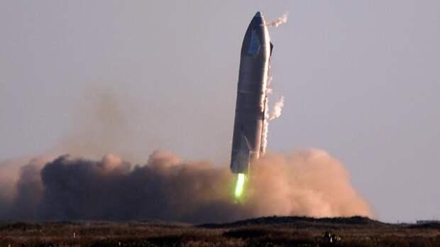 Starship SN8 во время приземления