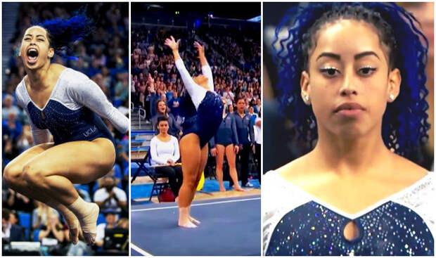 Американская гимнастка станцевала хип-хоп во время выступления
