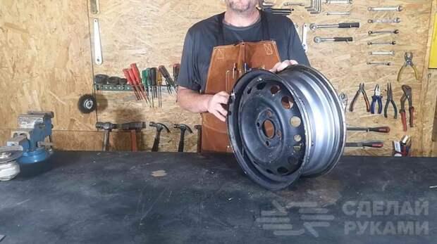 Кузнечный горн из колесного диска от авто