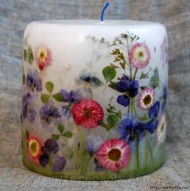 цветочные свечи ручной работы (82) (597x600, 209Kb)