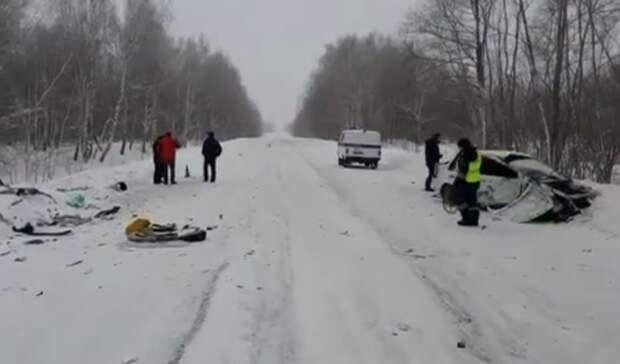 В Башкирии произошла авария с погибшим и тремя пострадавшими