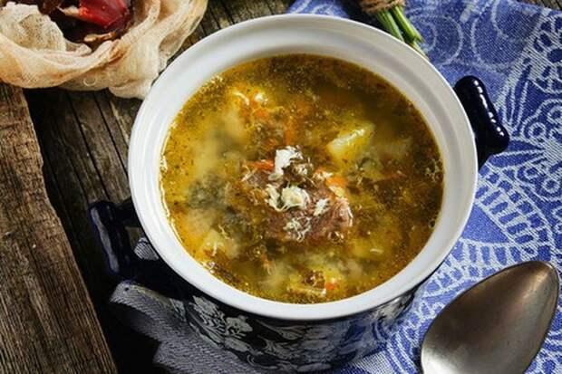 Ливанский суп со щавелем и чечевицей   еда, щавель