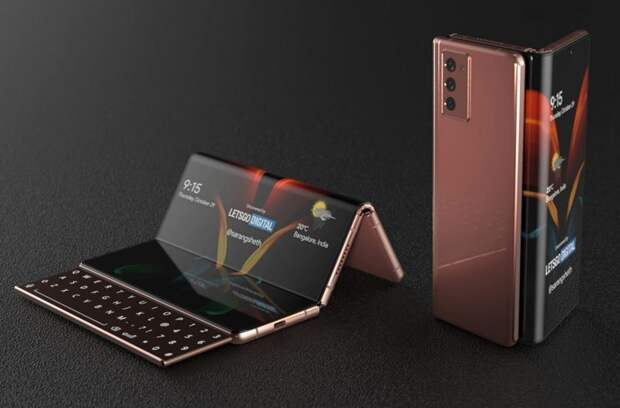 Samsung готовит первый складной планшет-гармошку