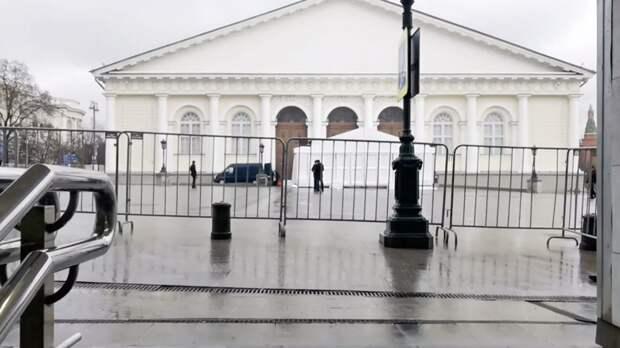 В «Манеже» провели санитарную обработку перед посланием Путина