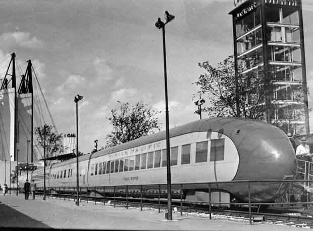 Поезда с автомобильным дизайном 30-х годов автодизайн, поезд, ретро