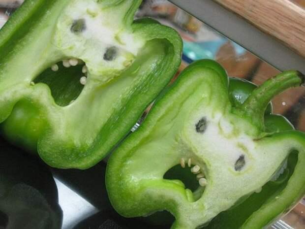 24. Испуганные перчики овощи, фрукиы