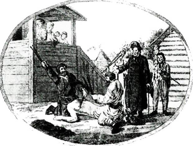 лубочная картинка 19 века. зверства салтычихи