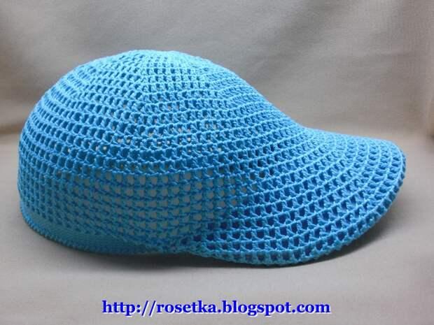 Чудесная вязаная кепка - мастер класс от  Ларисы Гленчак (Розетка)