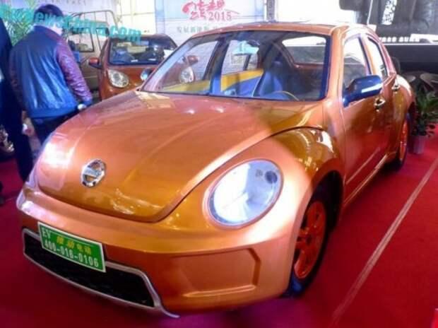 Китайцы клонировали VW Beetle, добавив ему пару дверей