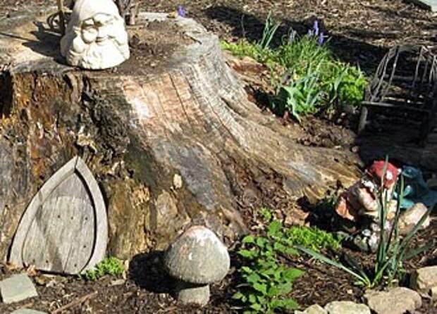садовый домик для гнома