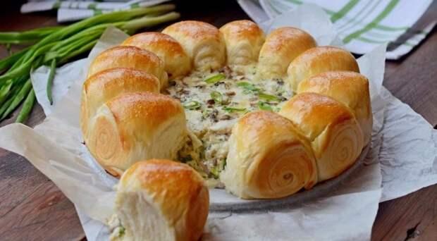 Булочки-малышки с сырно-грибной начинкой - наслаждение для гурманов!
