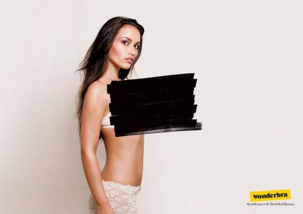 Censored, Wonderbra, Sara Lee Corporation, Печатная реклама