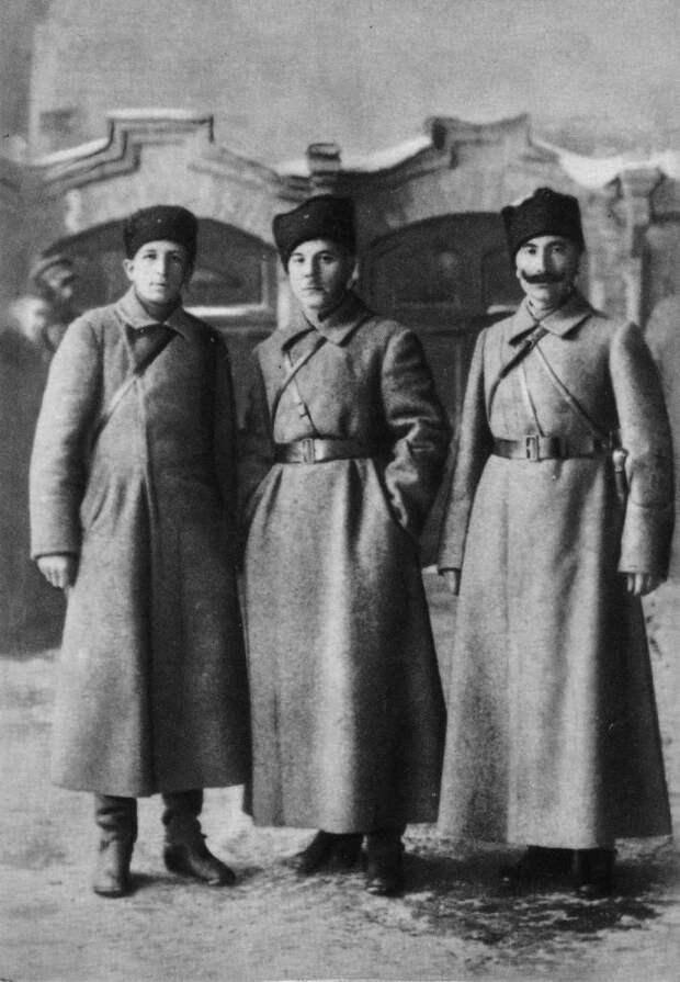 К. Е. Ворошилов, С. М. Буденный и А. С. Бубнов. 1918-1920 г.г.