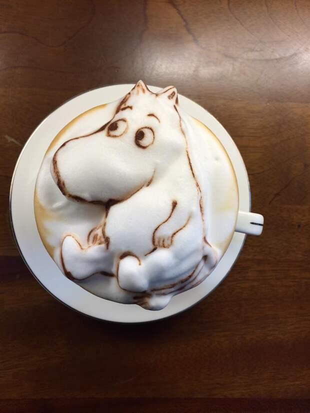 Кофе с 3D-пенкой – это хит!