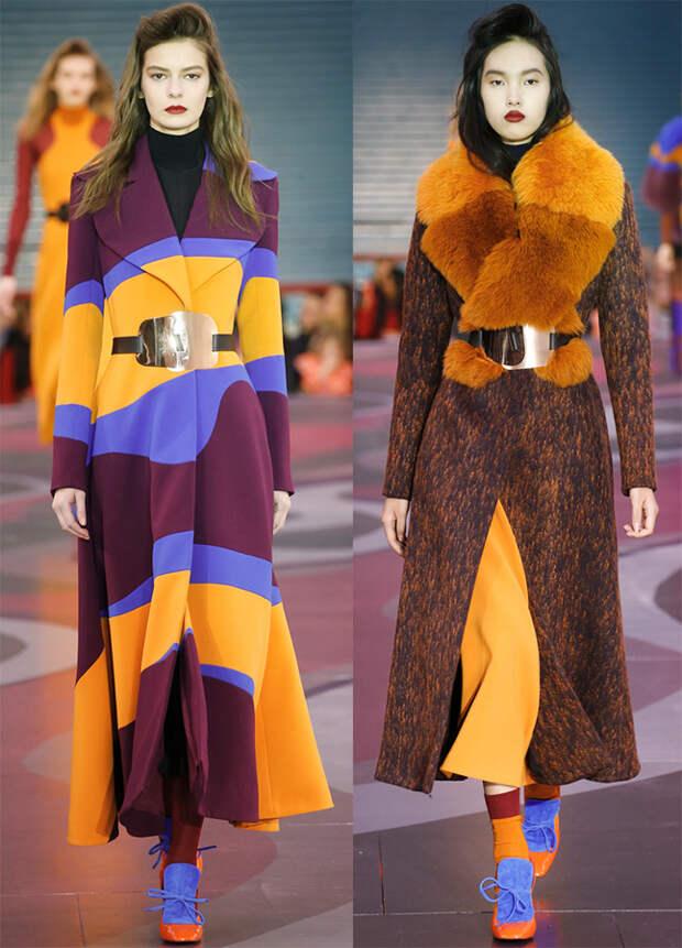 Яркие женские пальто