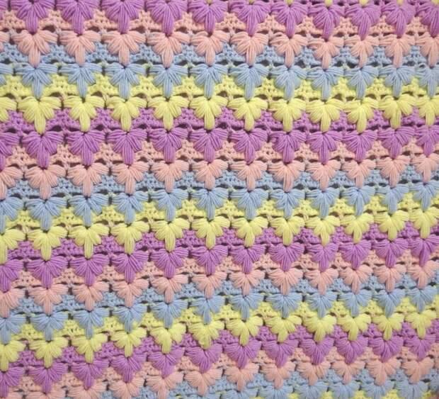 Детский плед `Разноцветная волна` - Ярмарка Мастеров