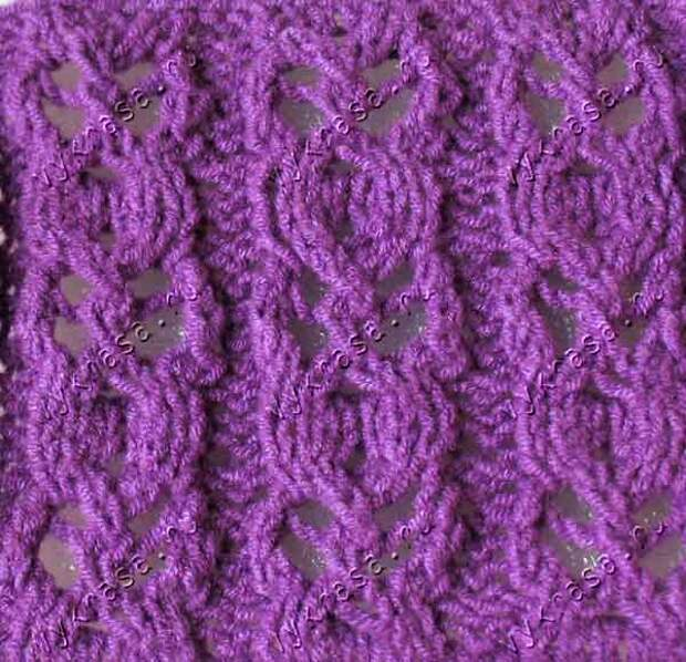 Фото узора для вязания спицами
