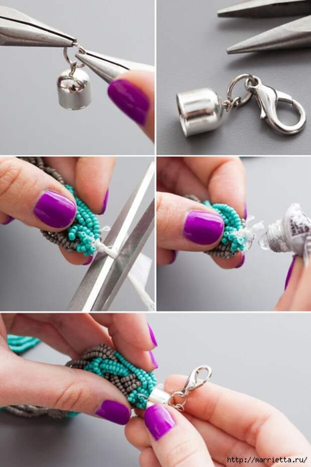 Как сплести ожерелье из бисера. Мастер-класс (6) (466x700, 187Kb)