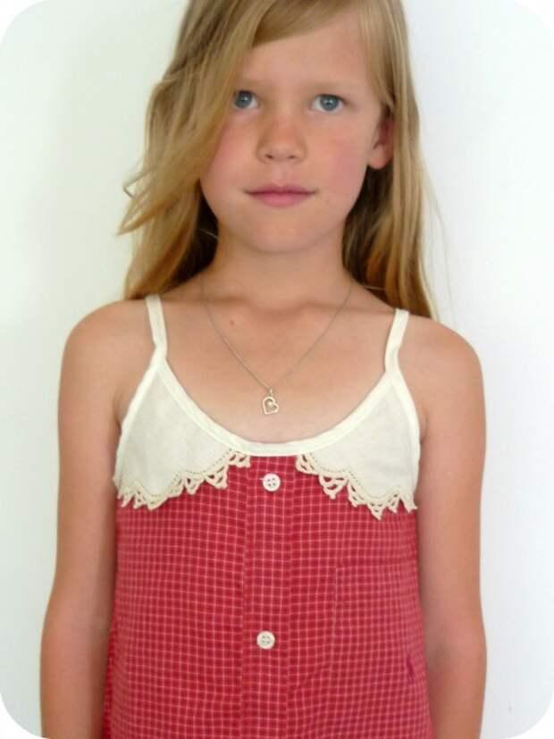 Детское платье из папиной футболки