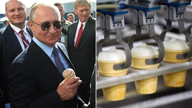 Какое российское мороженое едят в Китае и США?