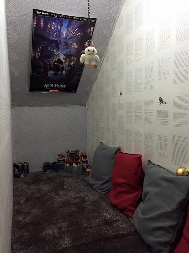 """Мать превратила чулан под лестницей в """"комнату Гарри Поттера"""" для своих детей"""