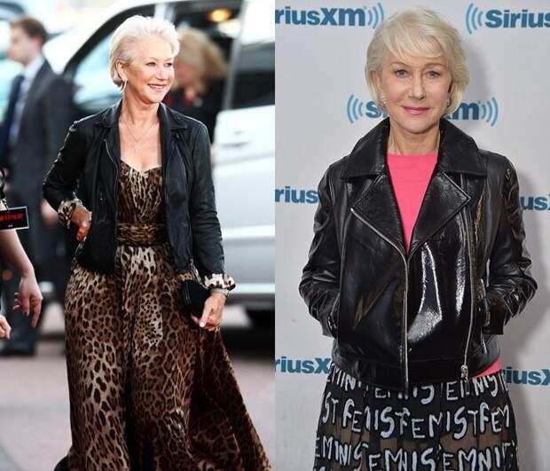 Можно и не молодёжно: как носят кожаные куртки знаменитости, которым «уже не 16»