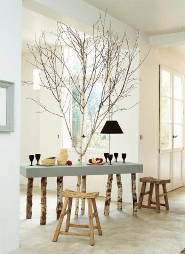 Дерево в интерьере (подборка)