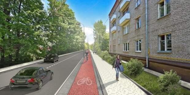 Велосипедную дорожку на Большой Академической проложат вдоль тротуара
