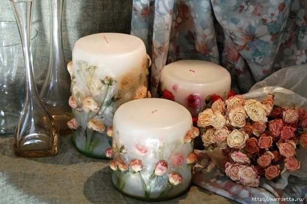 цветочные свечи ручной работы (28) (700x466, 218Kb)