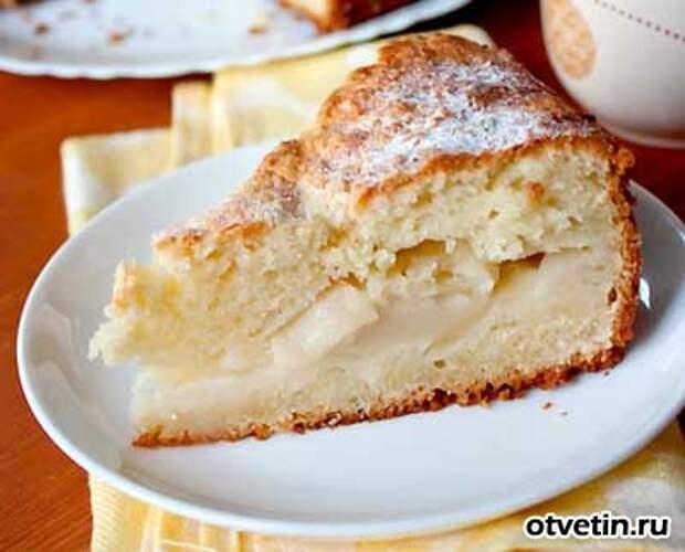 Деликатесный пирог с творогом и яблоком