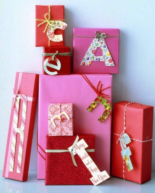 Упаковка подарков - с монограммами