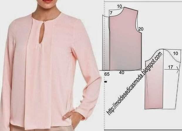 Новая подборка летних блузок + выкройки