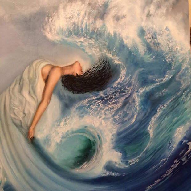 Невероятные вселенные на картинах Эрики Векслер
