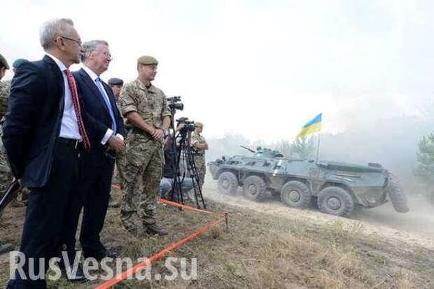 Украинские военнослужащие смачно матерятся на мероприятии с участием Министра Обороны Великобритании  (ВИДЕОФАКТ 18+) | Русская весна