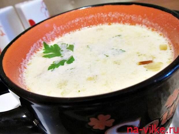 Легкий сметанный суп