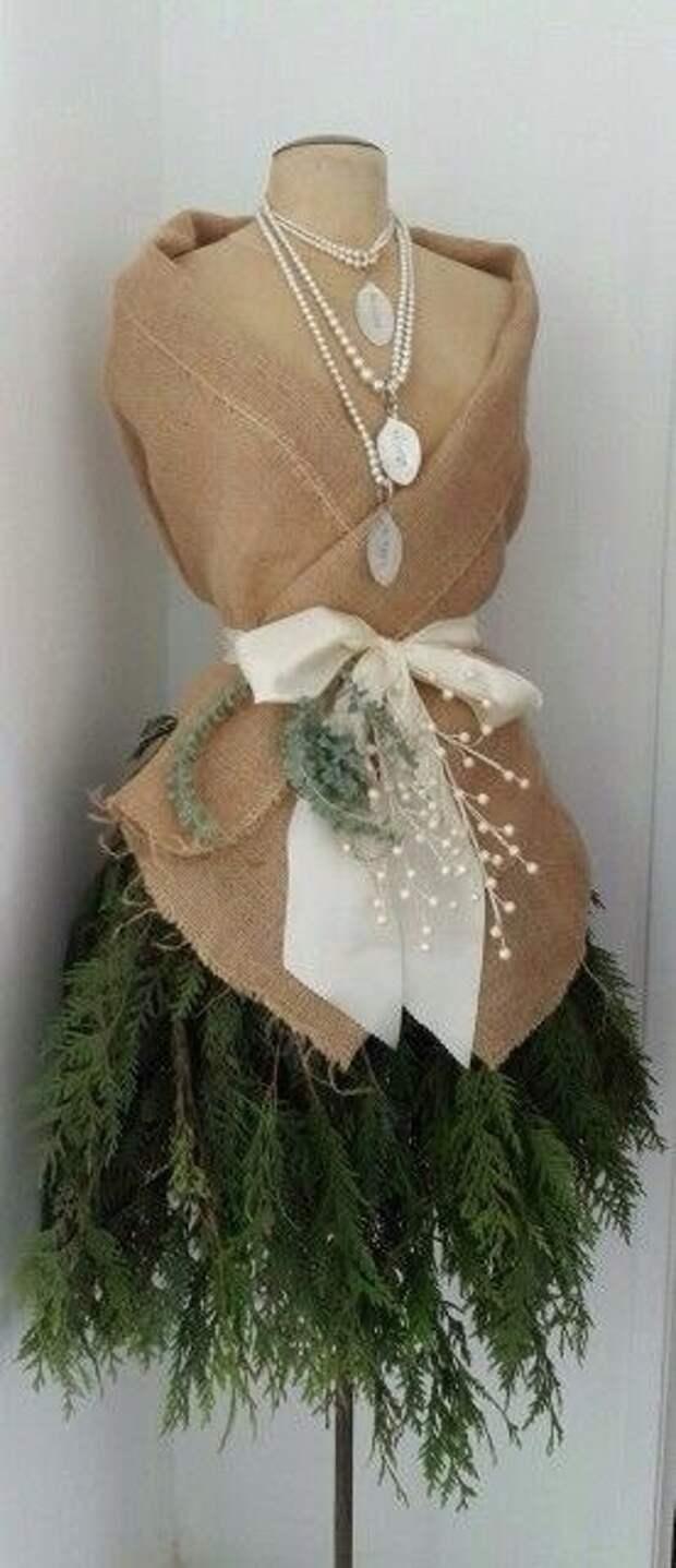 Еще одно новогоднее платье-ёлка