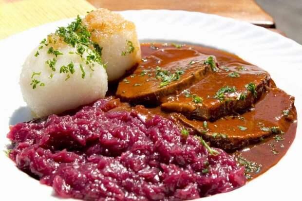 Жаркое по-баварски (Германия) блюдо, еда, туризм