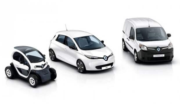 Renault Twizy, ZOE. и Kangoo Z.E.
